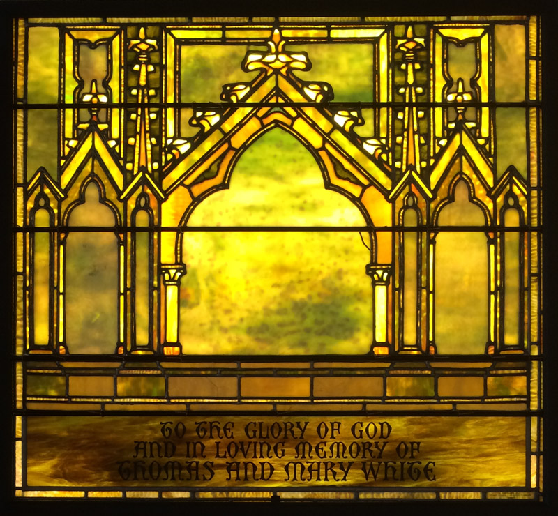 White Tiffany Window Dedication Full