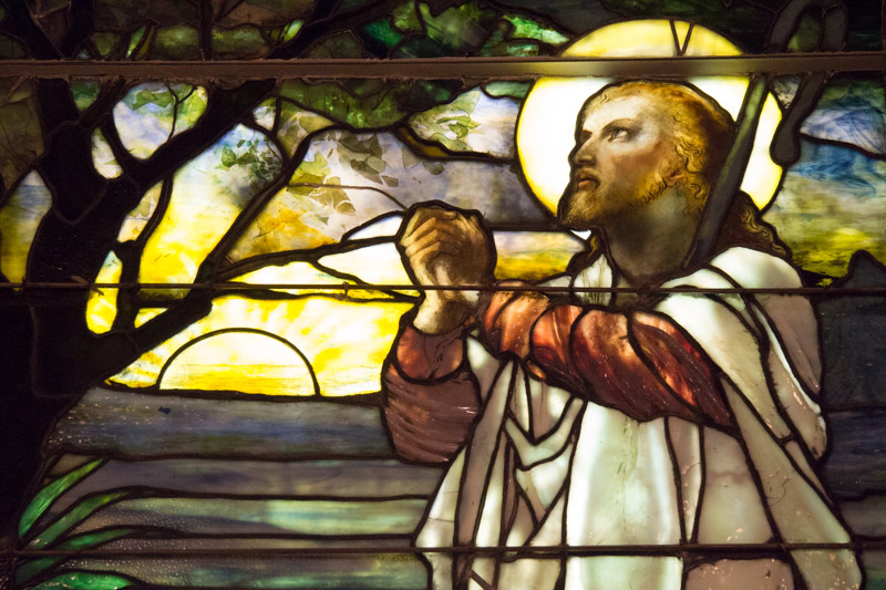 White Tiffany Window Jesus