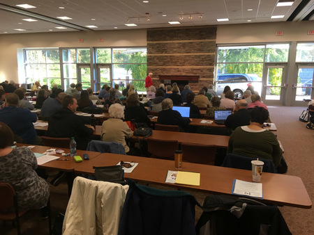 CeCe Moore's seminar on DNA drew a full house at the Western Michigan Genealogical Society's Fall Seminar
